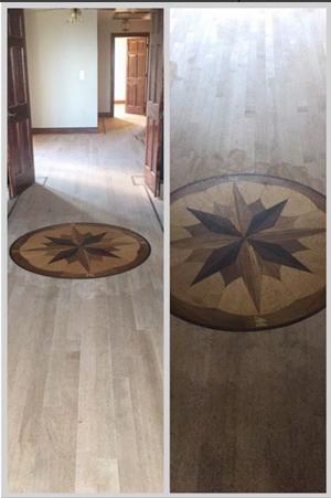 Custom sundial installation in progress