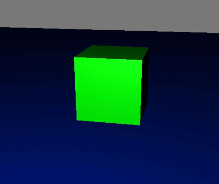 Single point light had to be moved away from initial position, so it would't be obscured by the cube.
