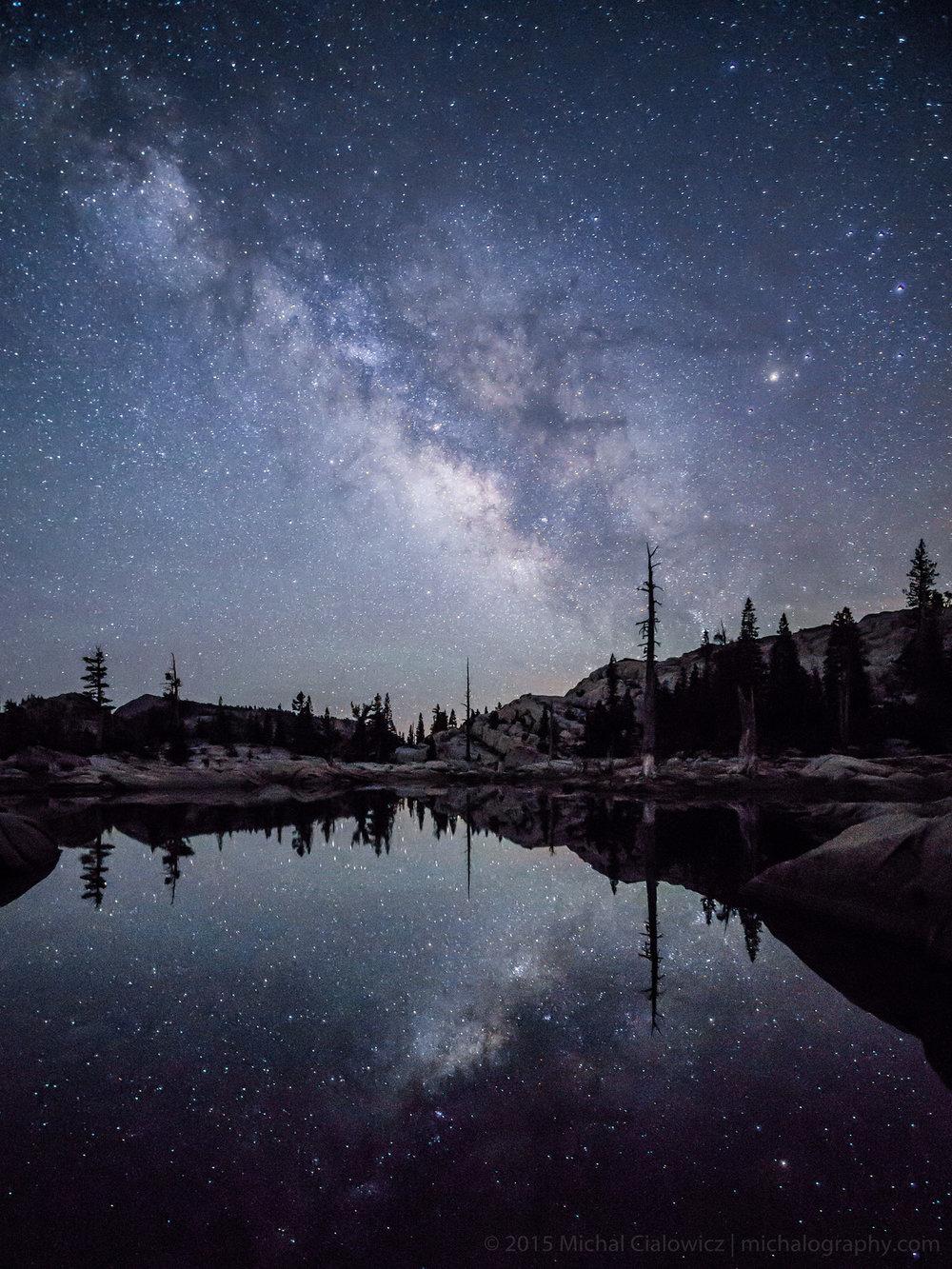Stargazing at Lake Aloha (Sony A6000 + Rokinon 12mm f/2.0)