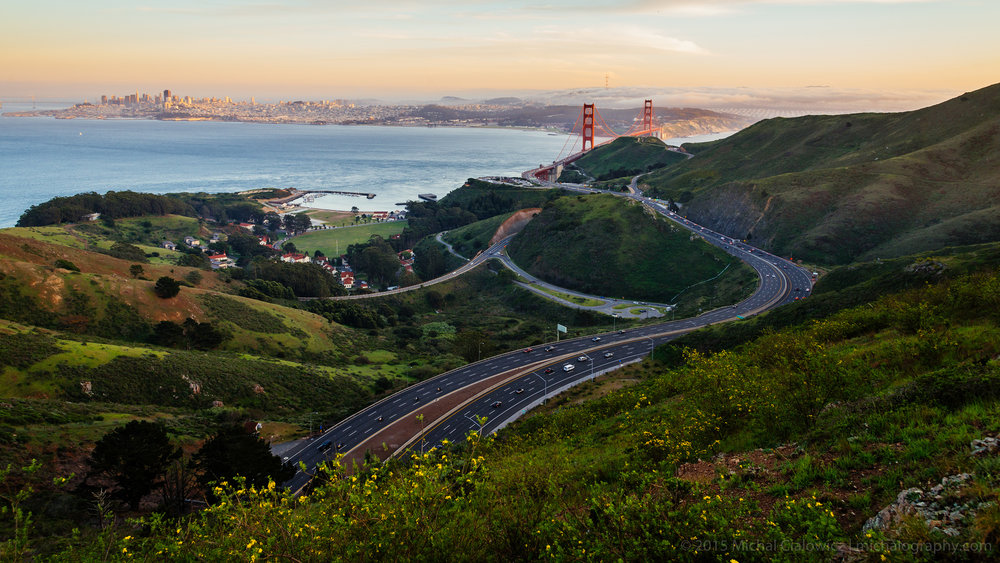 Golden Gate from the SCA Trail (Nikon D800 + 24-120mm f/4 VR)