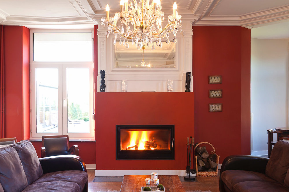 Living Room  - Superb sitting area where you will be able to enjoy the warmth and comfort of an open fire.