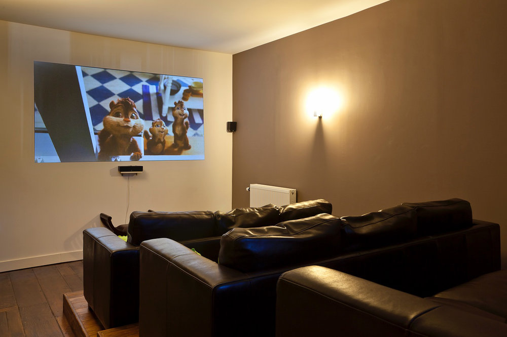Movie theater  - The projection room with DVD/Blu-Ray player and cable TV with over 50 channels.