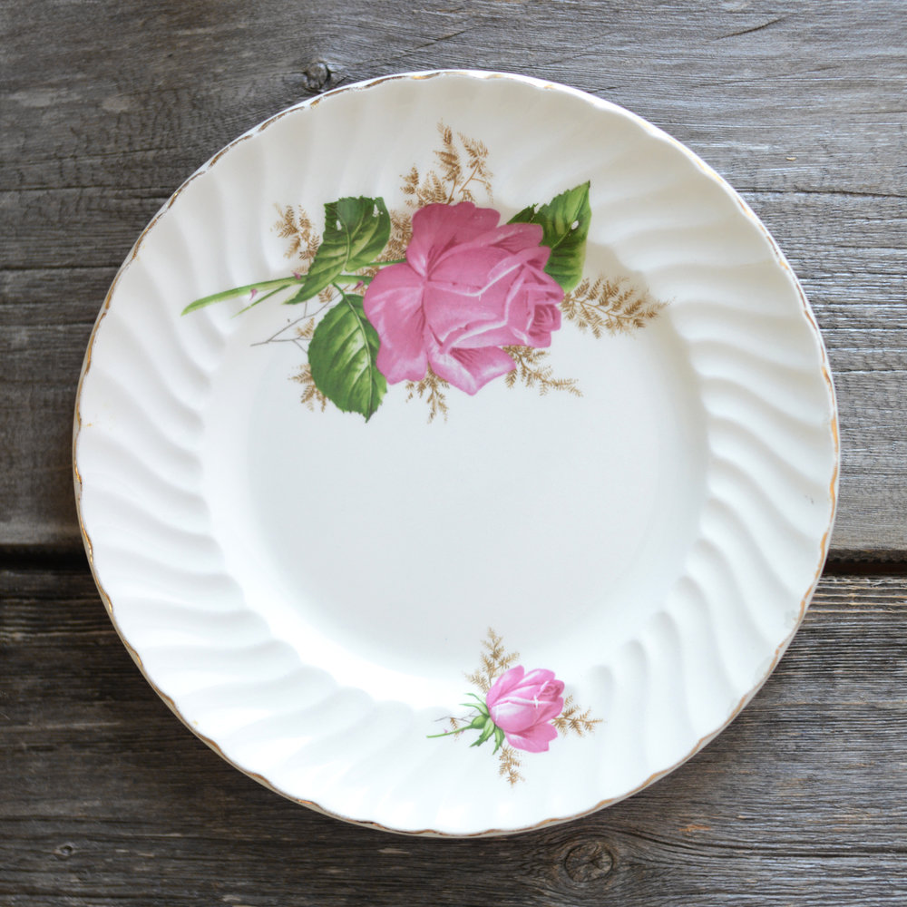 ridgway dinner plate - pink - 4 available