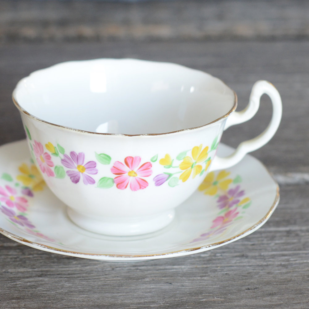 baskin tea cup and saucer