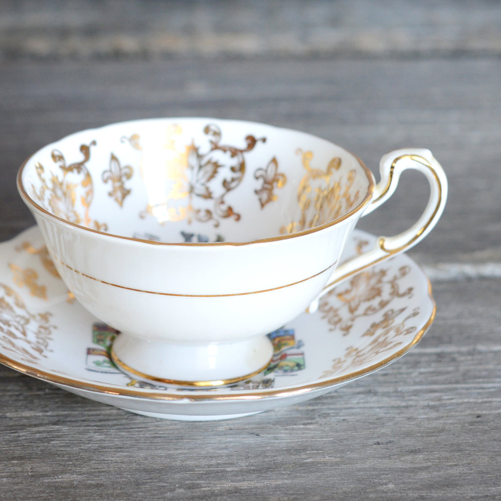 canadiana tea cup and saucer