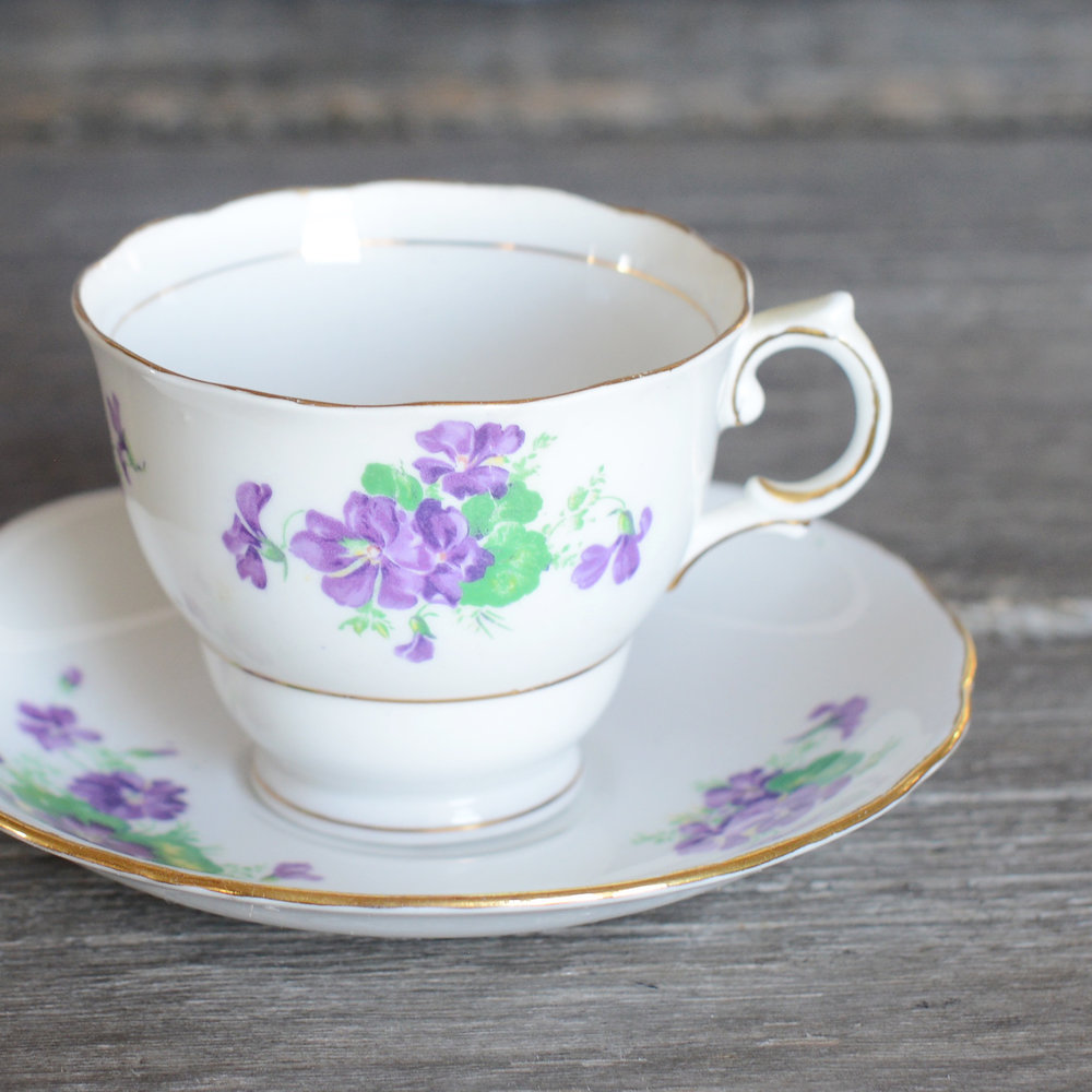 huckle tea cup and saucer