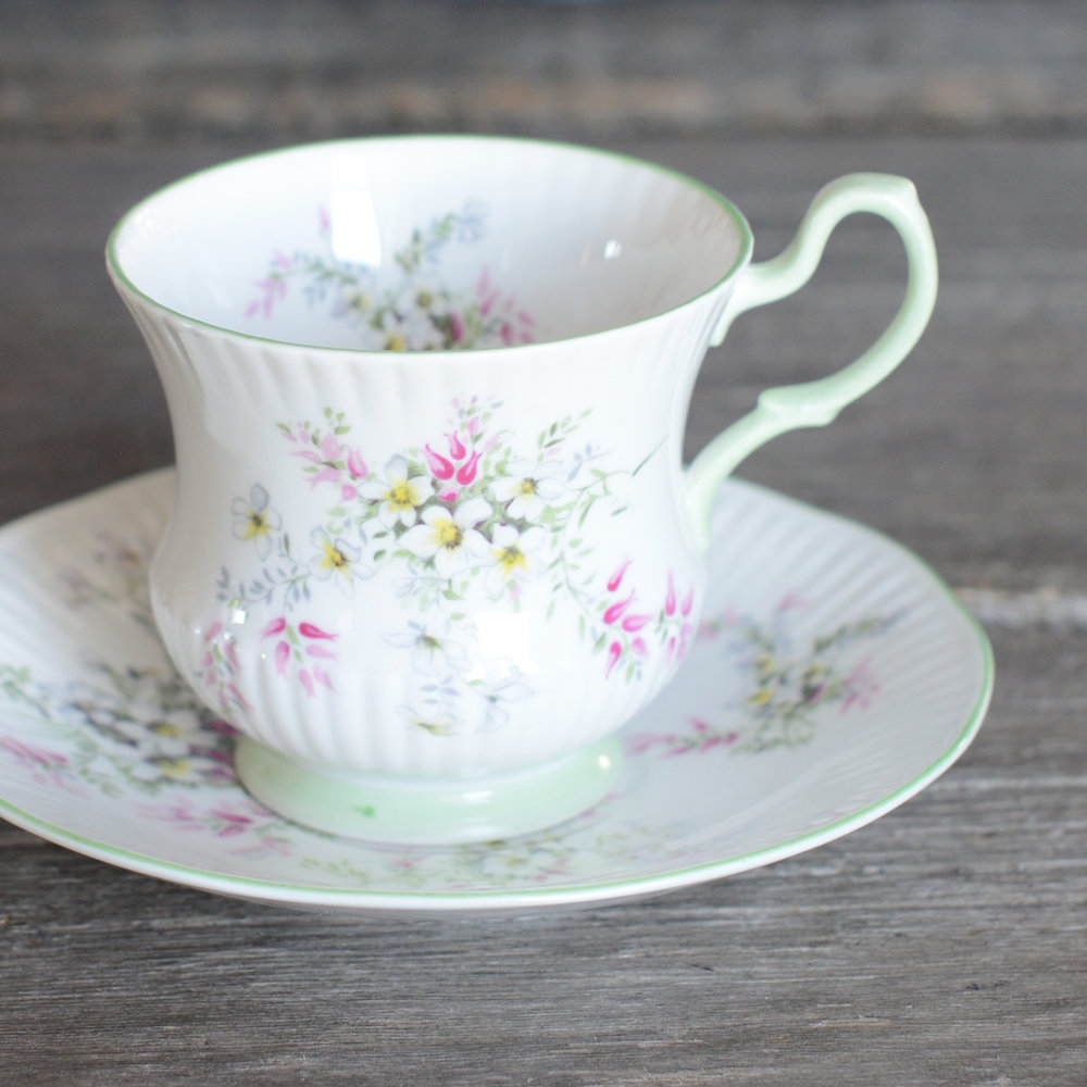 leek tea cup and saucer