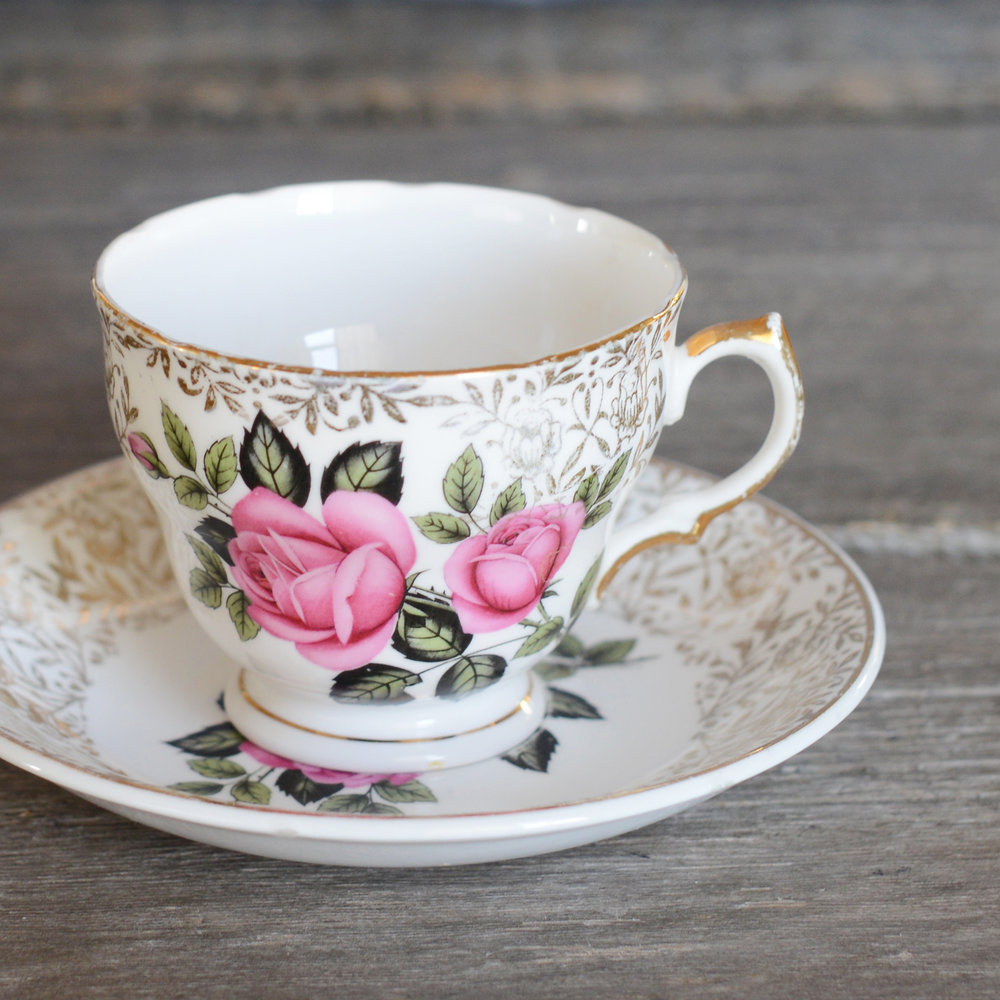 maley tea cup and saucer - 3 available