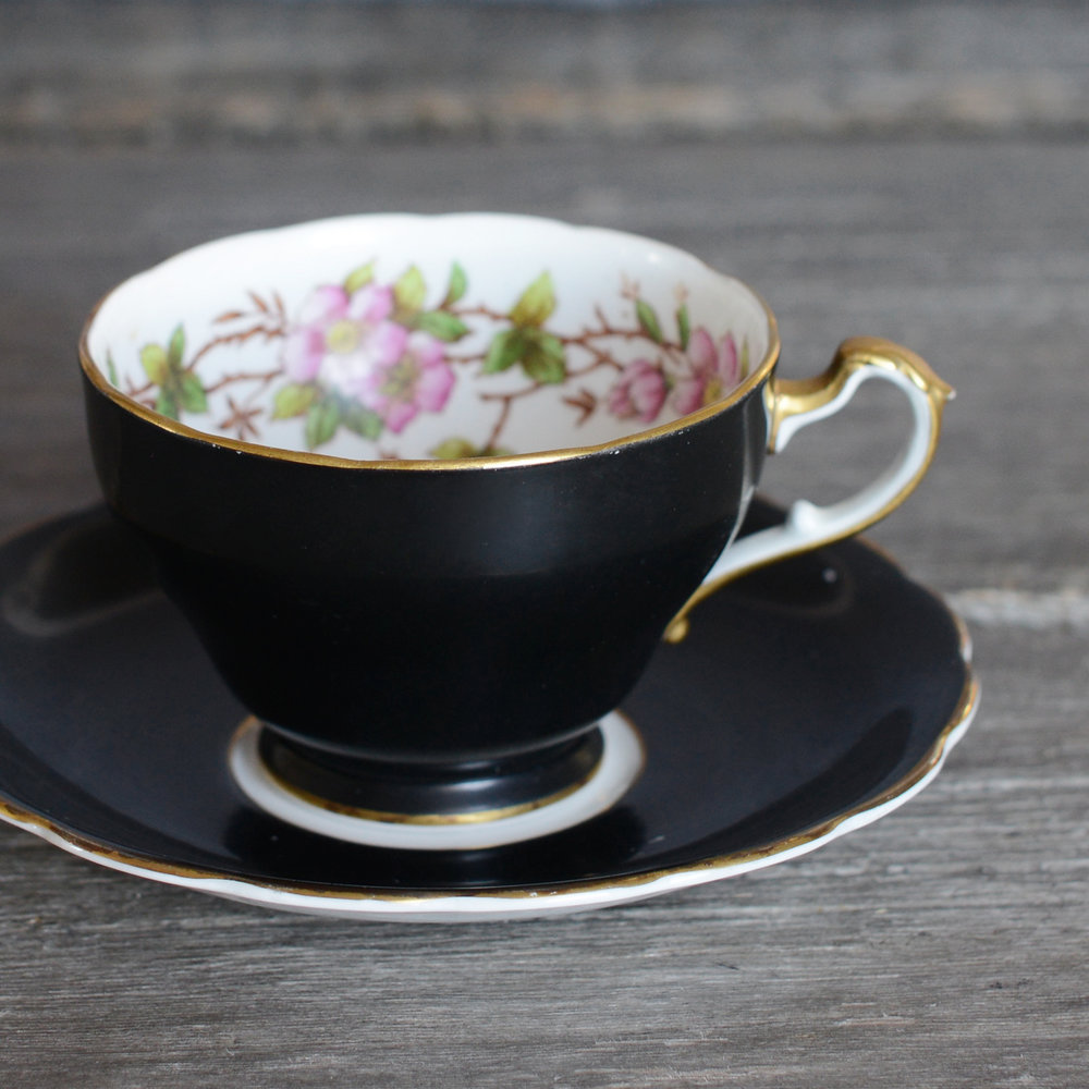 maxey tea cup and saucer - 2 available
