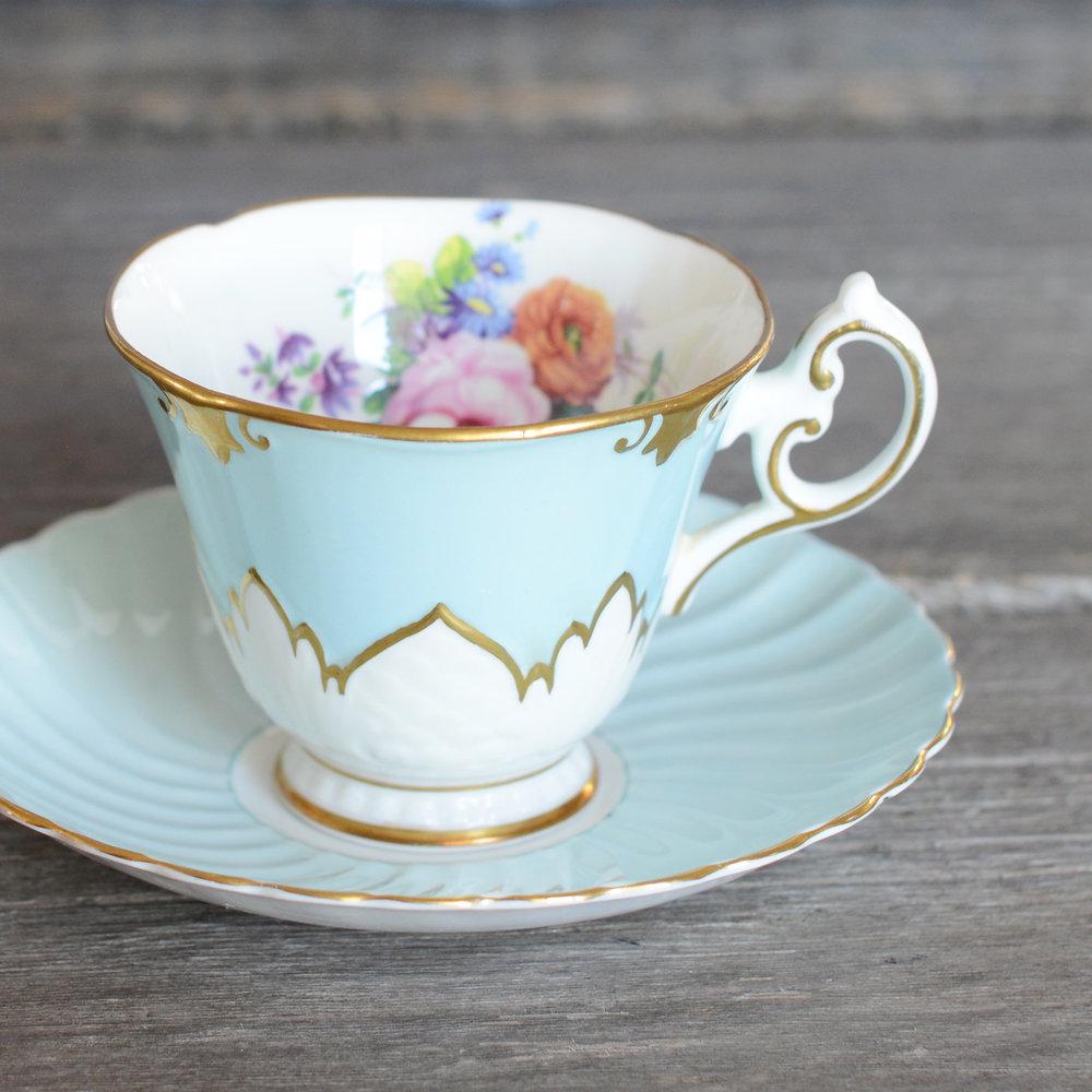 mcalmond tea cup and saucer