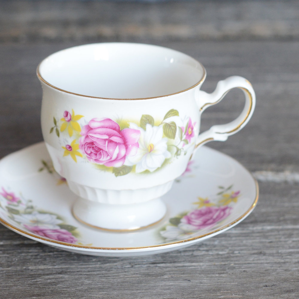 tillerson tea cup and saucer - 3 available