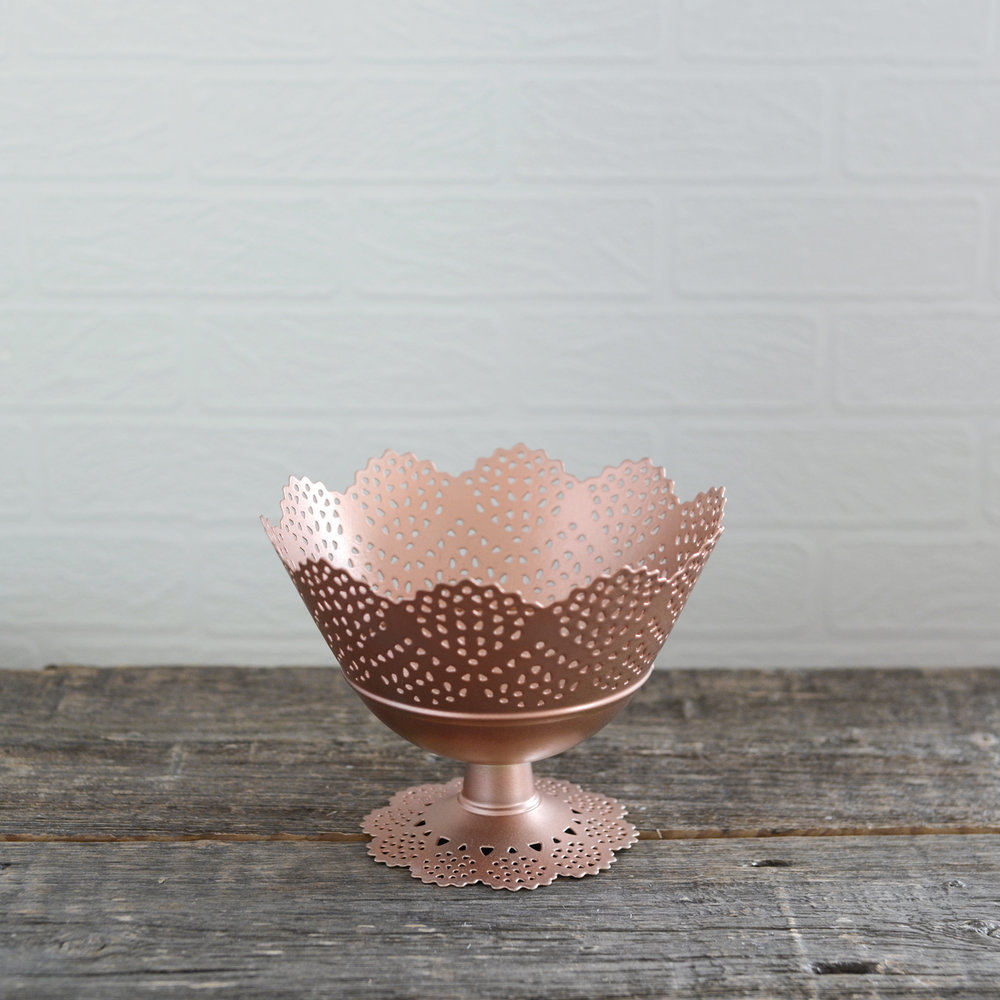 "lace bowl - rose gold - 7"" x 5"" - 4 available"