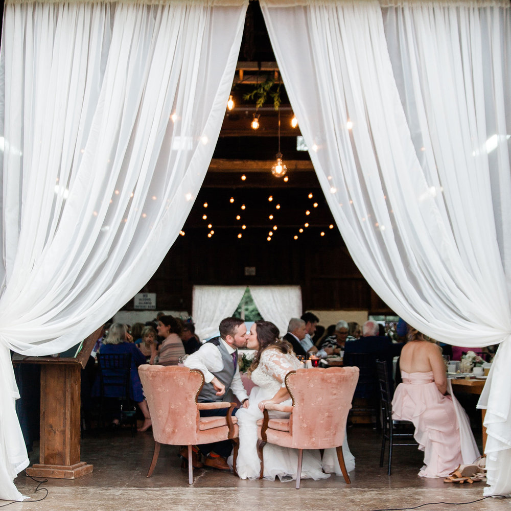14' ivory voile draping