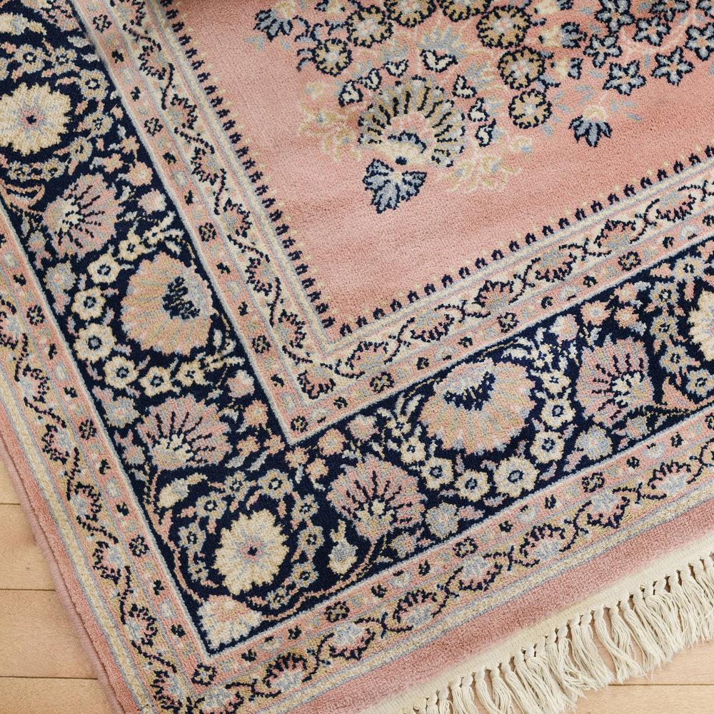 8x11 pink/navy area rug