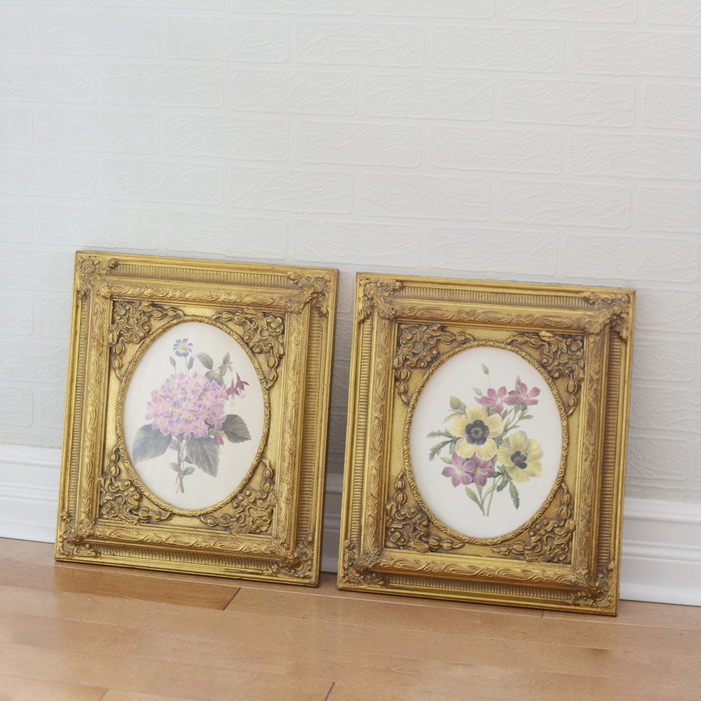 "8"" x 10"" floral frames - 2 available"
