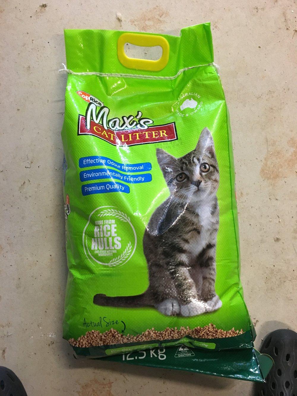 Max's cat litter