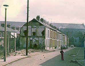 The street where I grew up in Belfast as it was being steadily demolished in the 1970s