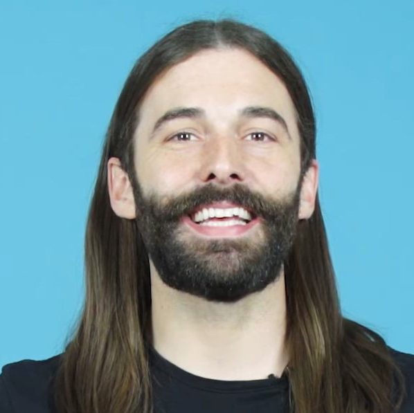 Jonathan Van Ness is the grooming expert on the Netflix series Queer Eye.  Mary O'Hara is a producer on Jonathan's podcast  Getting Curious .  Photo by Cntrl+Alt+Delete.