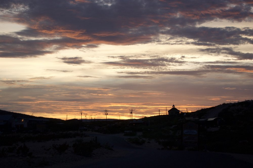 Sunset over Terlingua, TX