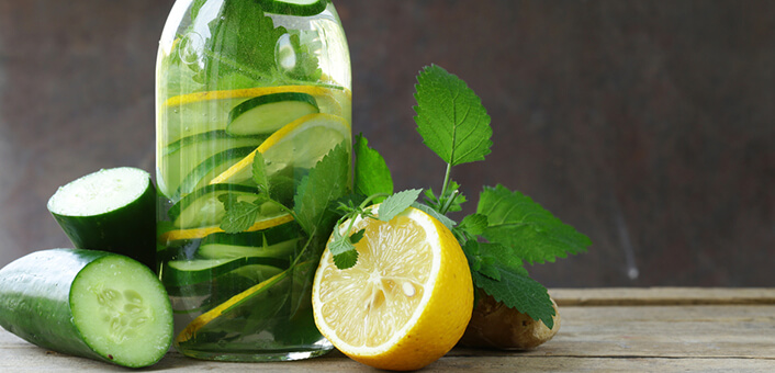Lemon Cucumber Toner - 2 tablespoons of lemon juiceHalf cup of cucumber slices3 cups of cold water¼ cup of lemon slices