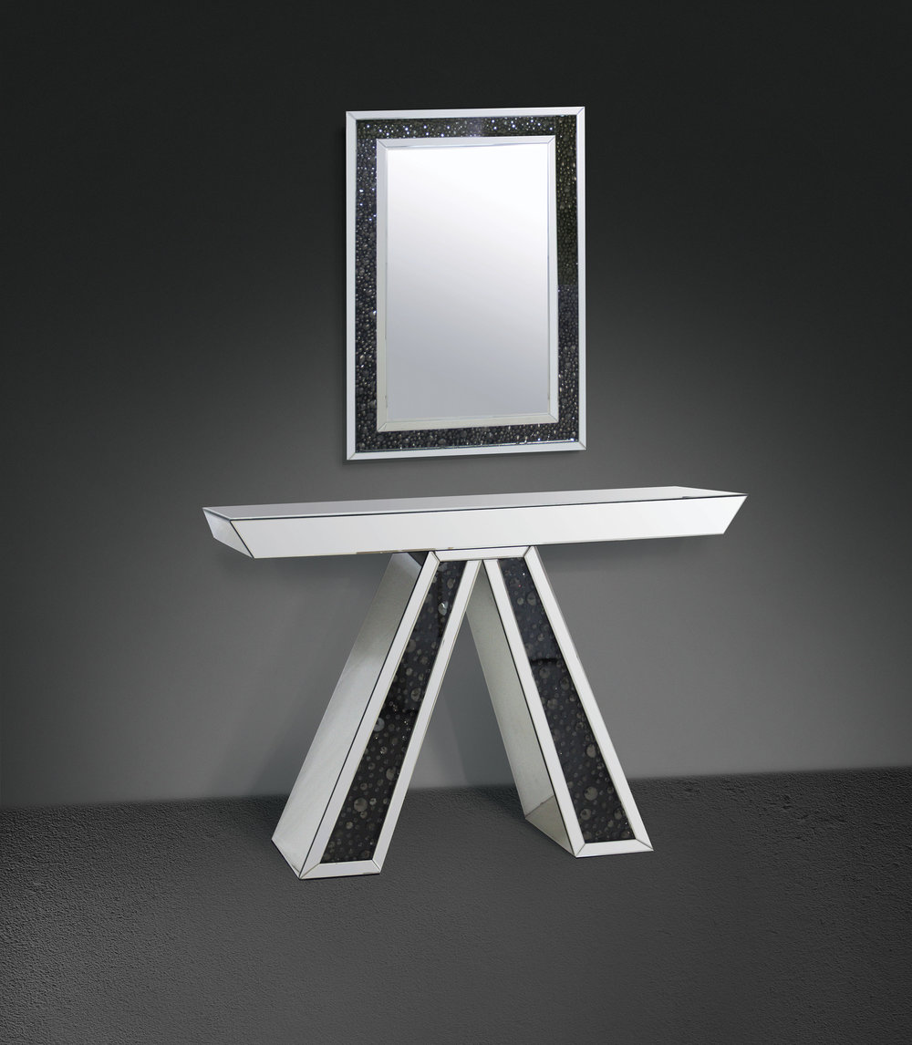 v mirrored console modern and contemporary home furniture store