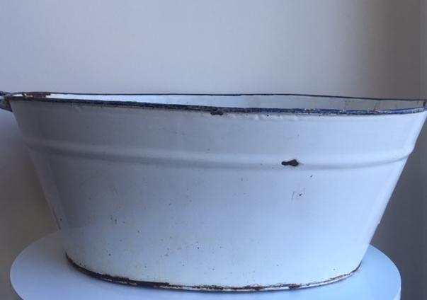 Large Vintage Galvanised Tubs - 3 Available