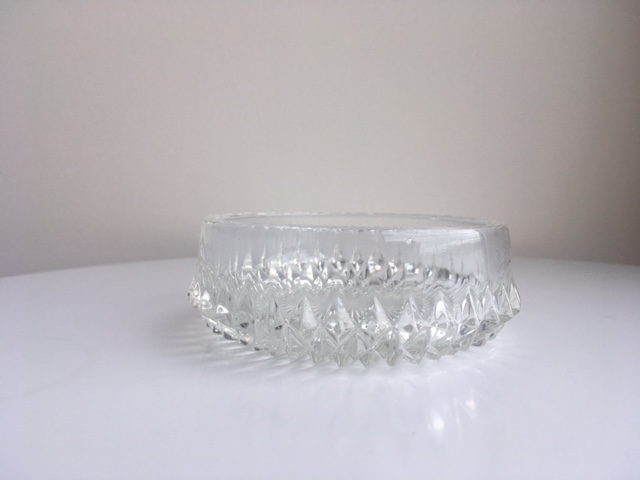Small Crystal Bowls and Plates