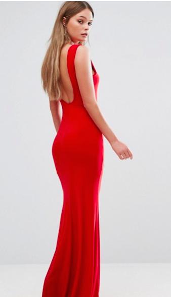 Club L long red dress