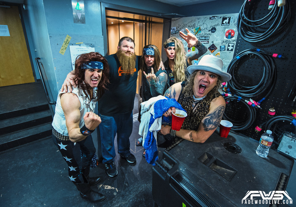 Steel Panther - Backstage with Monitor Engineer James Miller.