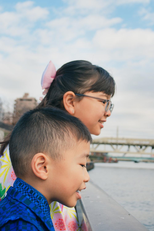 family kids photoshoot kimono samurai asakusa sensoji