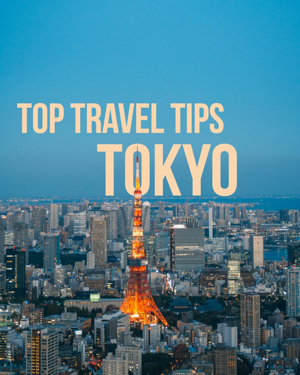 tokyo top travel tips
