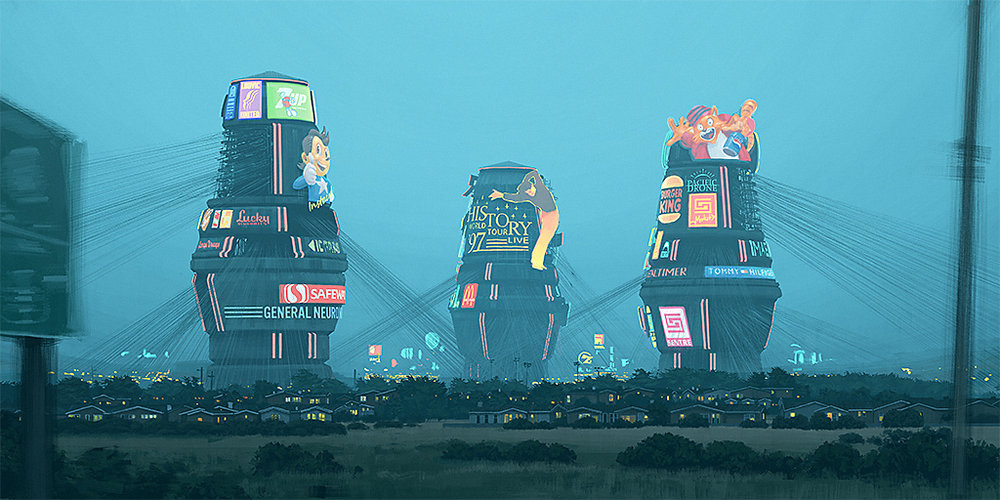 Image from 'The Electric State', Simon & Schuster, 2018 - courtesy of  Simon Stålenhag .