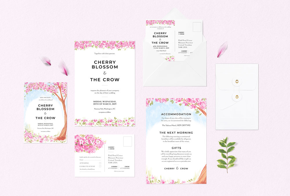 CustomisableStationery  - Fully customisable Wedding Stationery sets created with hand painted designs