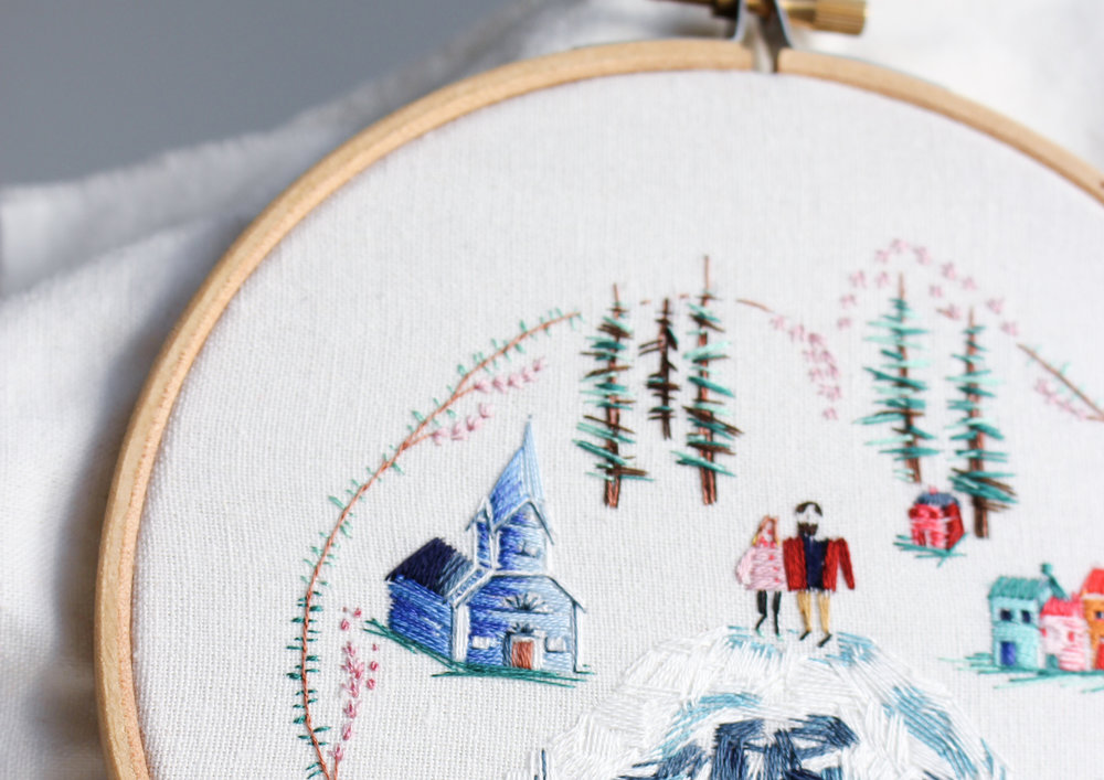 Embroideryhoops & gifts - Customisable and bespoke embroidery art provide a meaningful and memorable wedding gift for the happy years to come