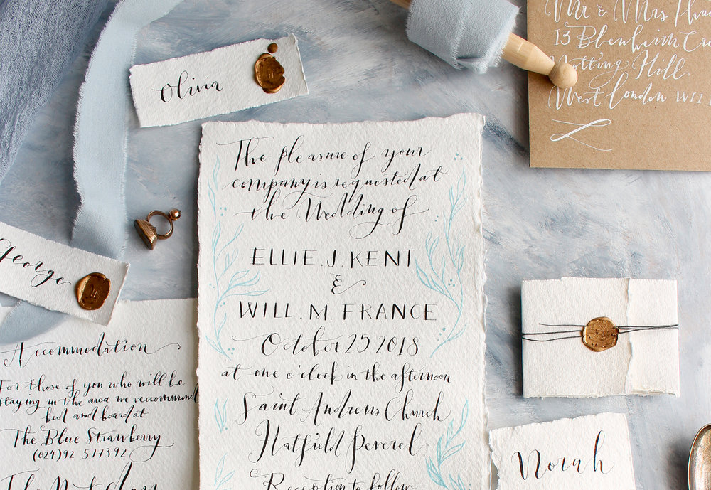 Ink & Thimble - stationery, embroidery, calligraphy, lettering, storytelling
