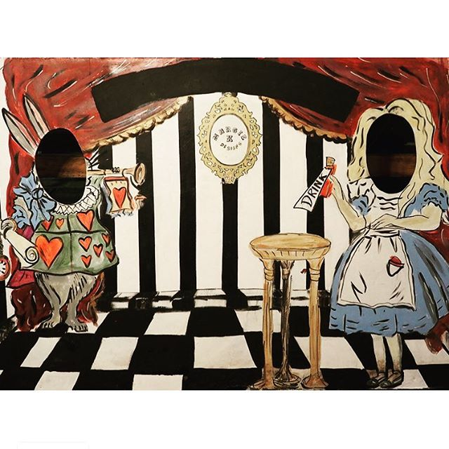 Mad Hatter's Tea Party peep-hole photo back drop. Equally as much fun for a hen party as with family and friends! Offering £500 off per booking for November weekends! Please spread the word.  #madhatter #whiterabbit #madhatter'steaparty #aliceinwonderland #lewiscarroll #henparty #photobooth #photoopportunity #friendsandfamily #smile #saycheese #saycheesedigital #weekendaway #photoshoot #countryhouse #sugarmice #teaparty #sugarandspice #allthingsnice #psychadelic