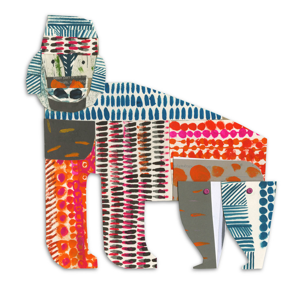 gorilla   from forthcoming  animal parade  book