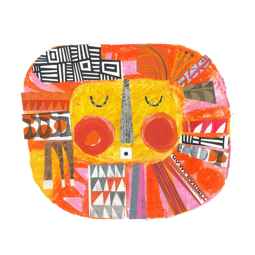you are my sunshine    SHOP    mixed media collage, available as a giclee print