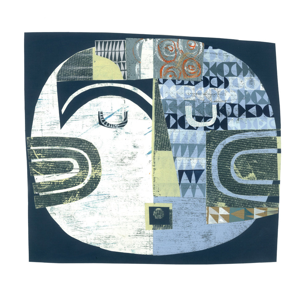 silver moon    SHOP    mixed media collage, available as a giclee print