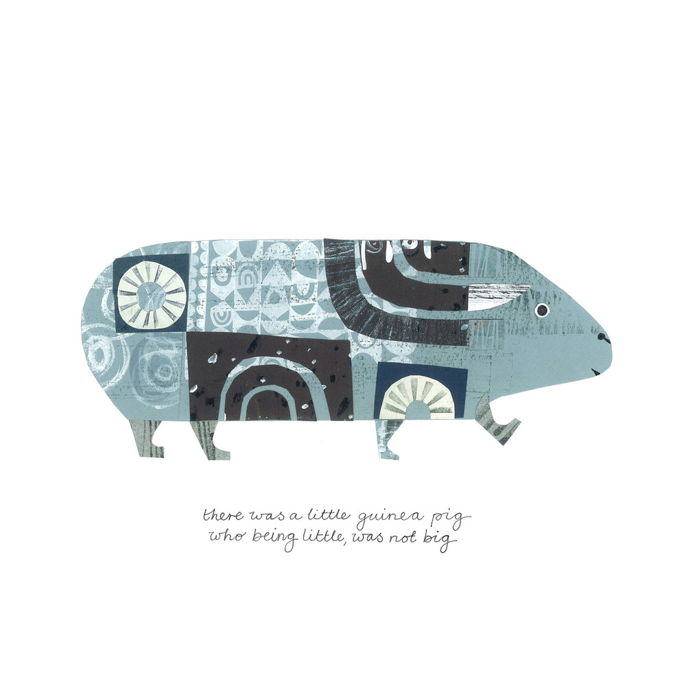 little guinea pig   SHOP    mixed media collage, available as a giclee print