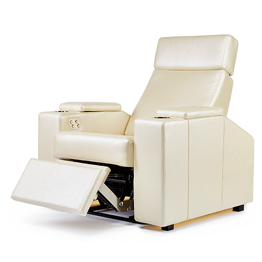 Berlin home theater chair with Swarowski crystals and gold plated parts