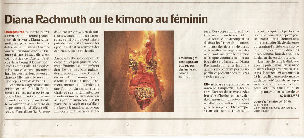 Article paru sur La Liberté - 27 septembre 2018
