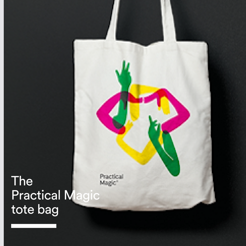 Practical MagicTote Bag - A cotton tote bag with a Practical magic design for you to carry your Practical Magic goodies