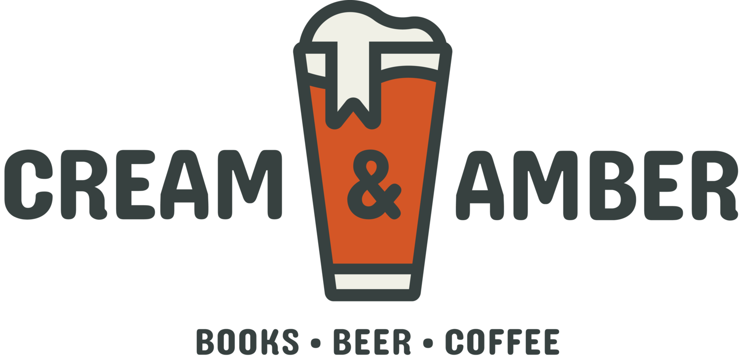 Cream & Amber- books, beer, coffee