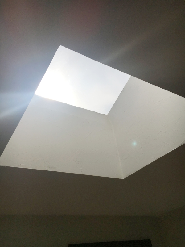 This skylight will brighten our whole back room!