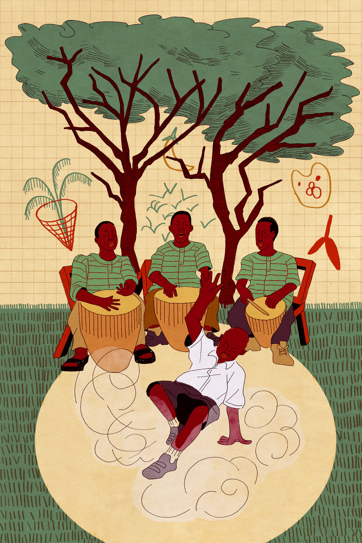 Uganda (2018) Ink and digital.