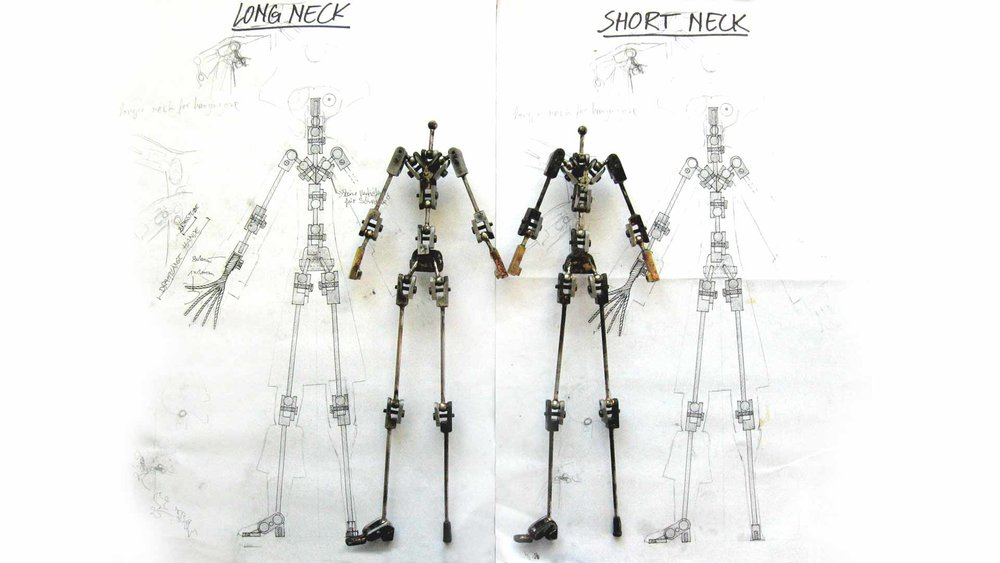 two armatures developed for the main character