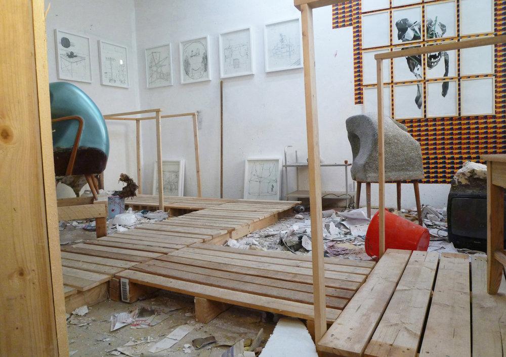 Ausstellung  Lehel Backyards  mit Matthias Goppel, 2014