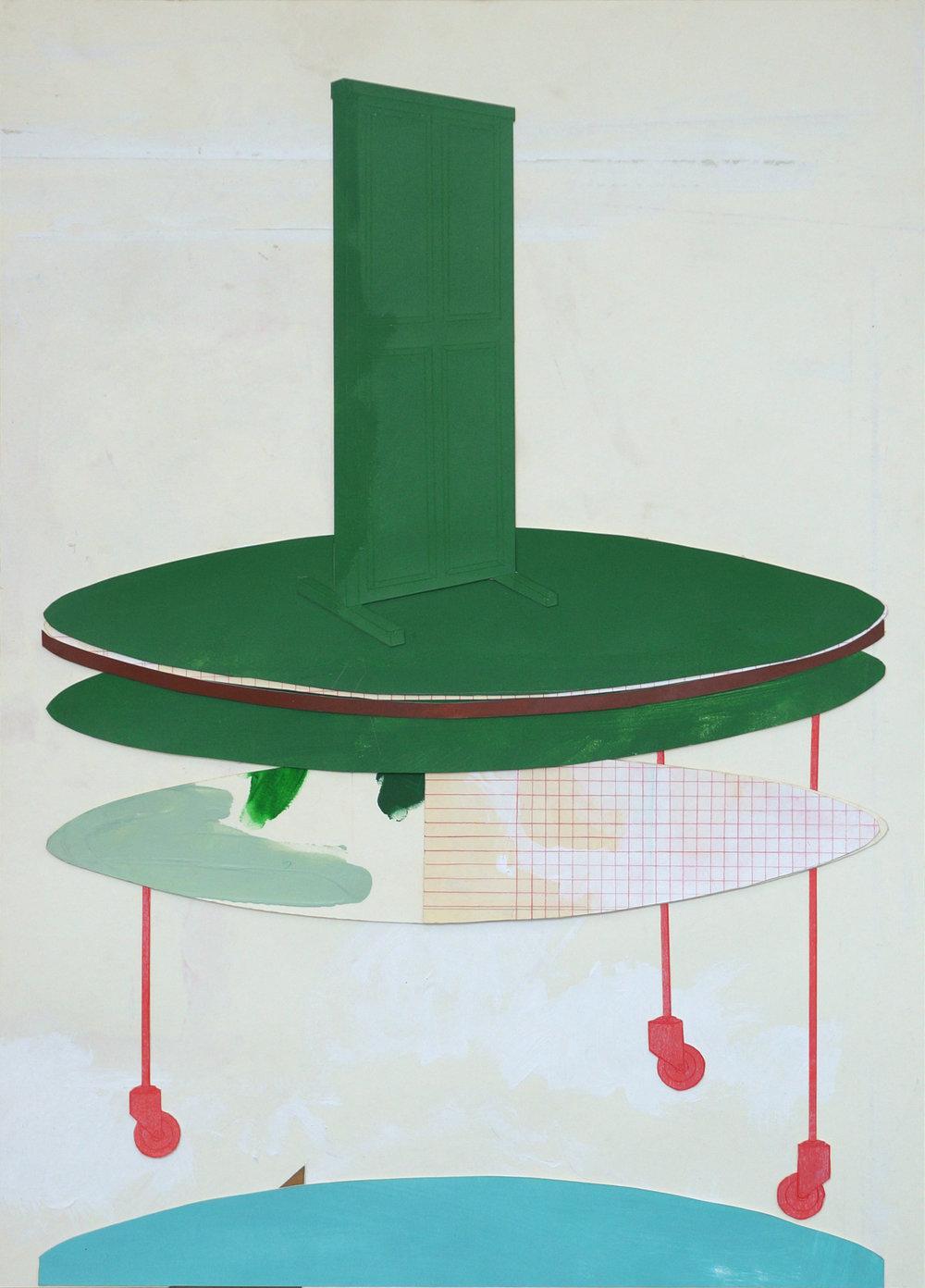 o.T. (islands)  Collage, 70cm x 50cm, 2017