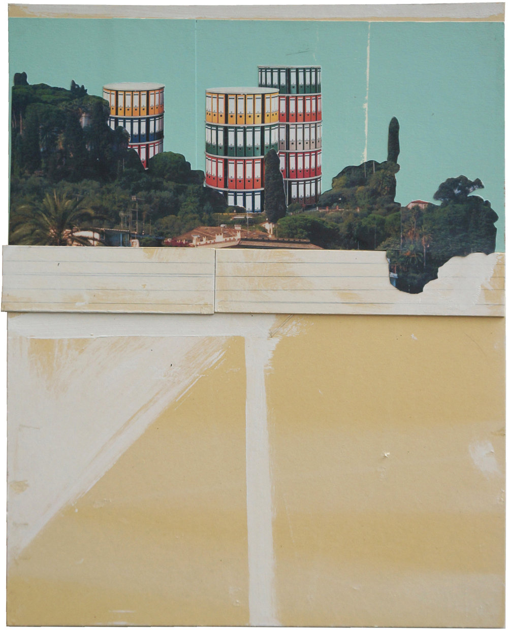 o.T.  Collage, 50cm x 40cm, 2014